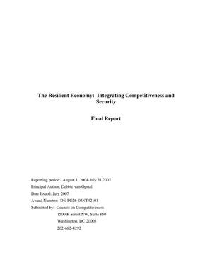 Primary view of object titled 'The Resilient Economy: Integrating Competitiveness and Security'.