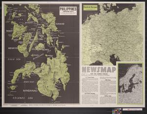 Primary view of object titled 'Newsmap. For the Armed Forces. 269th week of the war, 151st week of U.S. participation'.