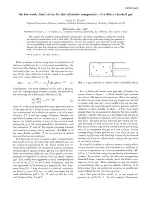 Primary view of object titled 'On the work distribution for the adiabatic compression of a diluteclassical gas'.