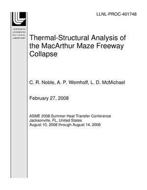 Primary view of object titled 'Thermal-Structural Analysis of the MacArthur Maze Freeway Collapse'.