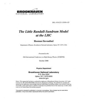 Primary view of object titled 'The Little Randall-Sundrum Model at the LHC'.