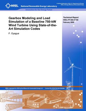 Primary view of object titled 'Gearbox Modeling and Load Simulation of a Baseline 750-kW Wind Turbine Using State-of-the-Art Simulation Codes'.