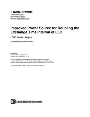 Primary view of object titled 'Improved power source for doubling the exchange time interval of LLC.'.