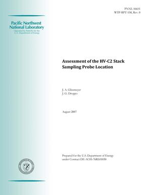 Primary view of object titled 'Assessment of the HV-C2 Stack Sampling Probe Location'.