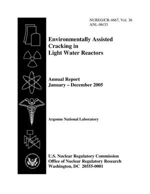 Primary view of object titled 'Environmentally assisted cracking in light water reactors annual report January - December 2005.'.