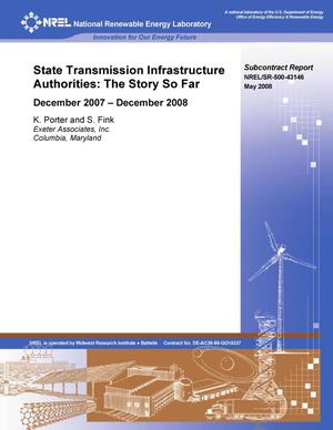 Primary view of object titled 'State Transmission Infrastructure Authorities: The Story So Far; December 2007 - December 2008'.