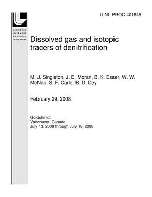 Primary view of object titled 'Dissolved gas and isotopic tracers of denitrification'.