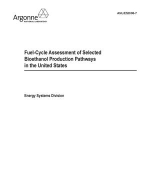 Primary view of object titled 'Fuel-cycle assessment of selected bioethanol production.'.