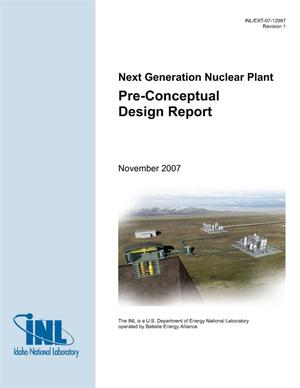 Primary view of object titled 'Next Generation Nuclear Plant Pre-Conceptual Design Report'.