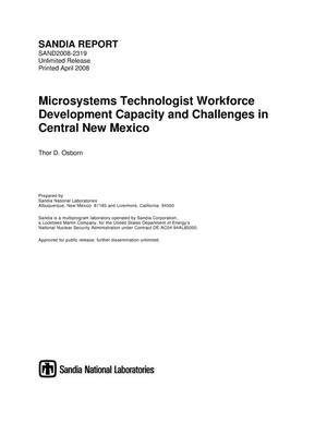 Primary view of object titled 'Microsystems technologist workforce development capacity and challenges in Central New Mexico.'.