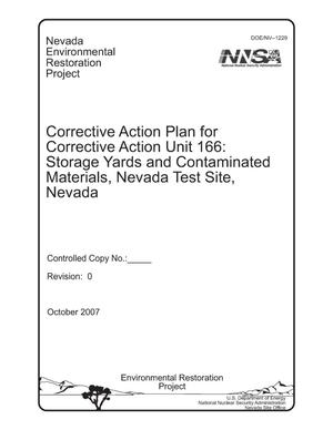 Primary view of object titled 'Corrective Action Plan for Corrective Action Unit 166: Storage Yards and Contaminated Materials, Nevada Test Site, Nevada'.