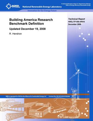 Primary view of object titled 'Building America Research Benchmark Definition: Updated December 19, 2008'.