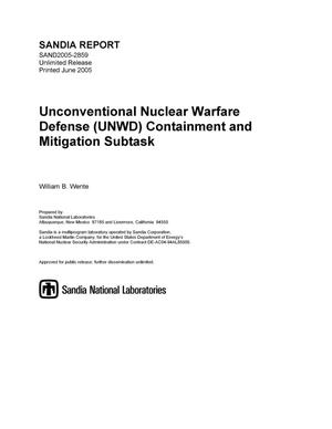 Primary view of object titled 'Unconventional Nuclear Warfare Defense (UNWD) containment and mitigation subtask.'.