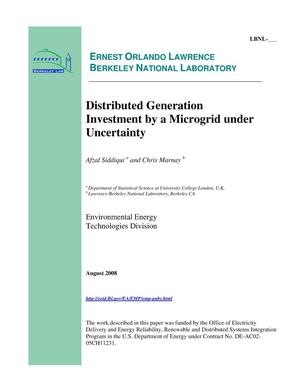 Primary view of object titled 'Distributed Generation Investment by a Microgrid under Uncertainty'.