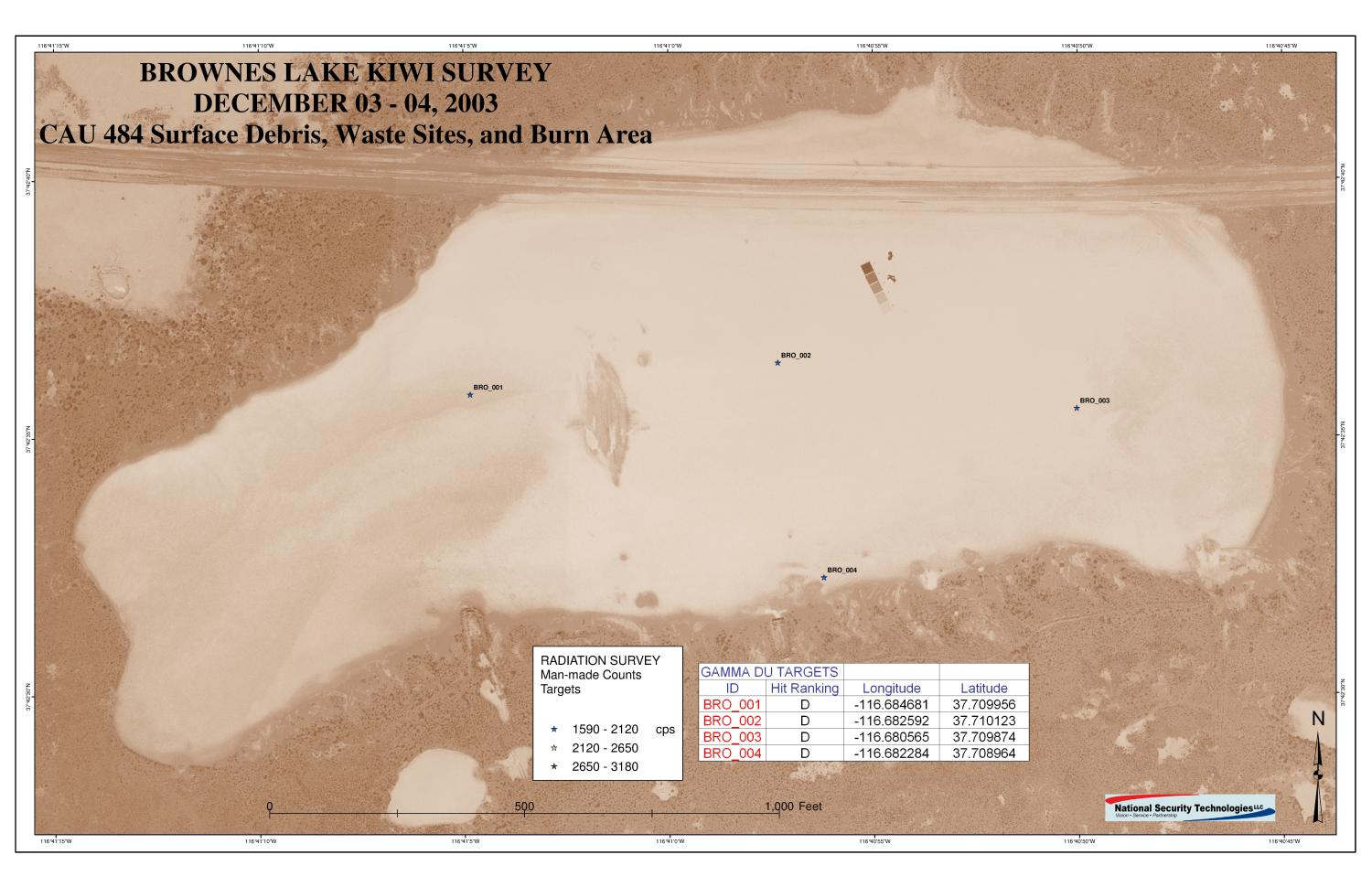 Closure Report for Corrective Action Unit 484: Surface Debris, Waste Sites, and Burn Area, Tonopah Test Range, Nevada                                                                                                      [Sequence #]: 3 of 57