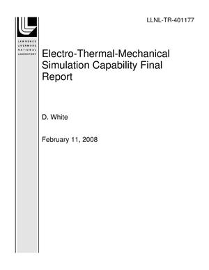 Primary view of object titled 'Electro-Thermal-Mechanical Simulation Capability Final Report'.
