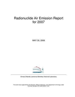 Primary view of object titled 'Radionuclide Air Emission Report for 2007'.
