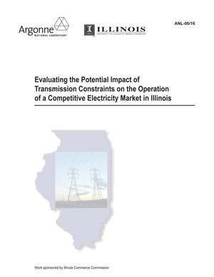Primary view of object titled 'Evaluating the potential impact of transmission constraints on the operation of a competitive electricity market in Illinois.'.