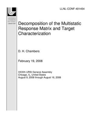 Primary view of object titled 'Decomposition of the Multistatic Response Matrix and Target Characterization'.