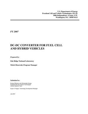Primary view of object titled 'SUBCONTRACT REPORT: DC-DC Converter for Fuel Cell and Hybrid Vehicles'.