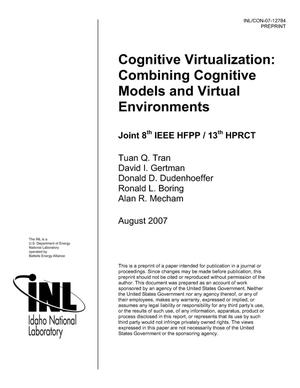Primary view of object titled 'Cognitive Virtualization: Combining Cognitive Models and Virtual Environments'.