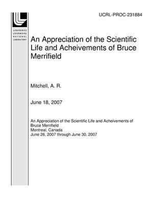 Primary view of object titled 'An Appreciation of the Scientific Life and Acheivements of Bruce Merrifield'.