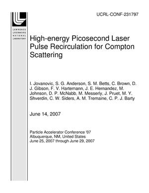 Primary view of object titled 'High-energy Picosecond Laser Pulse Recirculation for Compton Scattering'.