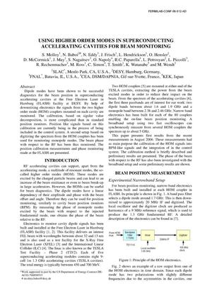 Primary view of object titled 'Using higher order modes in superconducting accelerating cavities for beam monitoring'.