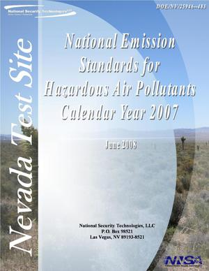 Primary view of object titled 'Nevada Test Site National Emission Standards for Hazardous Air Pollutants Calendar Year 2007'.