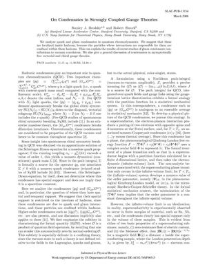 Primary view of object titled 'Spatial Dependence of Condensates in Strongly Coupled Gauge Theories'.