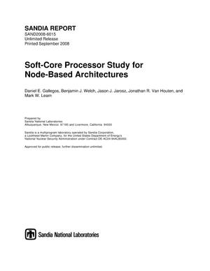 Primary view of object titled 'Soft-core processor study for node-based architectures.'.