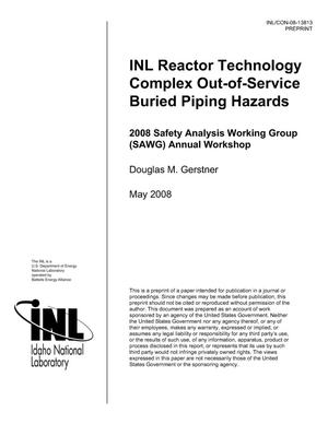 Primary view of object titled 'INL Reactor Technology Complex Out-of-Service Buried Piping Hazards'.