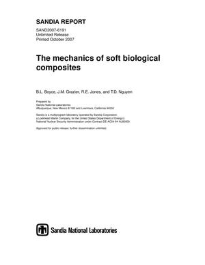 Primary view of object titled 'The mechanics of soft biological composites.'.