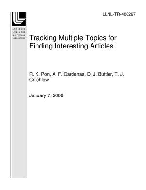 Primary view of object titled 'Tracking Multiple Topics for Finding Interesting Articles'.