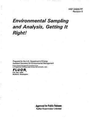 Primary view of object titled 'ENVIRONMENTAL SAMPLING AND ANALYSIS - GETTING IT RIGHT'.