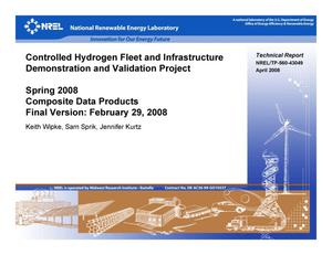 Primary view of object titled 'Controlled Hydrogen Fleet and Infrastructure Demonstration and Validation Project; Spring 2008 Composite Data Products, Final Version: February 29, 2008'.