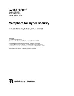 Primary view of object titled 'Metaphors for cyber security.'.