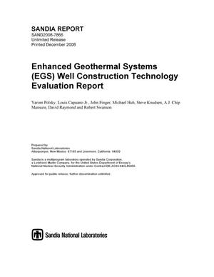 Primary view of object titled 'Enhanced Geothermal Systems (EGS) well construction technology evaluation report.'.