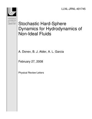 Primary view of object titled 'Stochastic Hard-Sphere Dynamics for Hydrodynamics of Non-Ideal Fluids'.