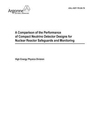 Primary view of object titled 'A comparison of the performance of compact neutrino detector designs for nuclear reactor safeguards and monitoring.'.