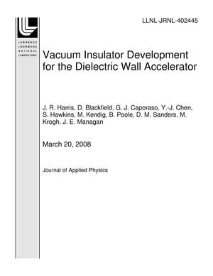 Primary view of object titled 'Vacuum Insulator Development for the Dielectric Wall Accelerator'.