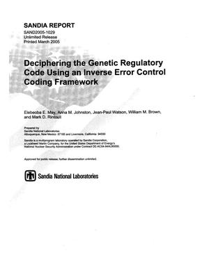 Primary view of object titled 'Deciphering the genetic regulatory code using an inverse error control coding framework.'.