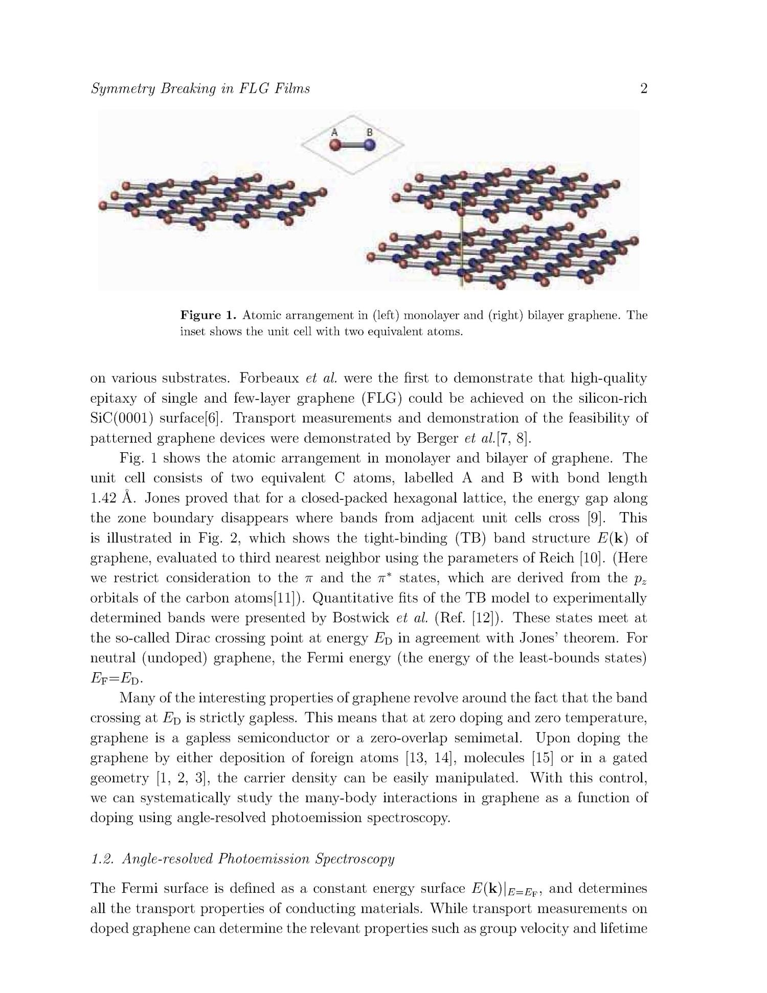 Symmetry Breaking in Few Layer Graphene Films                                                                                                      [Sequence #]: 2 of 23