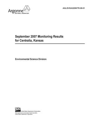 Primary view of object titled 'September 2007 monitoring results for Centralia, Kansas.'.
