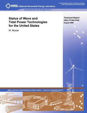 Primary view of object titled 'Status of Wave and Tidal Power Technologies for the United States'.