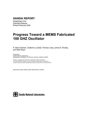 Primary view of object titled 'Progress toward a MEMS fabricated 100 GHz oscillator.'.