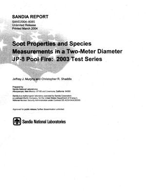 Primary view of object titled 'Soot properties and species measurements in a two-meter diameter JP-8 pool fire : 2003 test series.'.