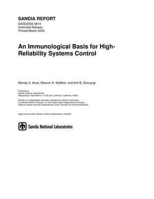 Primary view of object titled 'An immunological basis for high-reliability systems control.'.