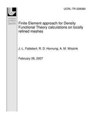 Primary view of object titled 'Finite Element approach for Density Functional Theory calculations on locally refined meshes'.
