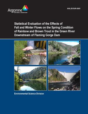 Primary view of object titled 'Statistical evaluation of the effects of fall and winter flows on the spring condition of rainbow and brown trout in the green river downstream of Flaming Gorge Dam.'.